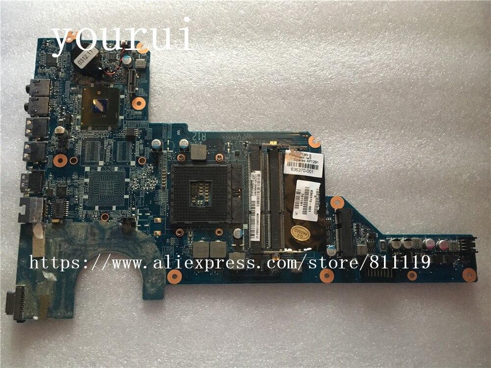 Yourui Para HP Pavilion G4 G6 G7 G4-1000 Laptop Motherboard Para 636370-636370-501 DA0R12MB6E0 001 DDR3 Teste ok