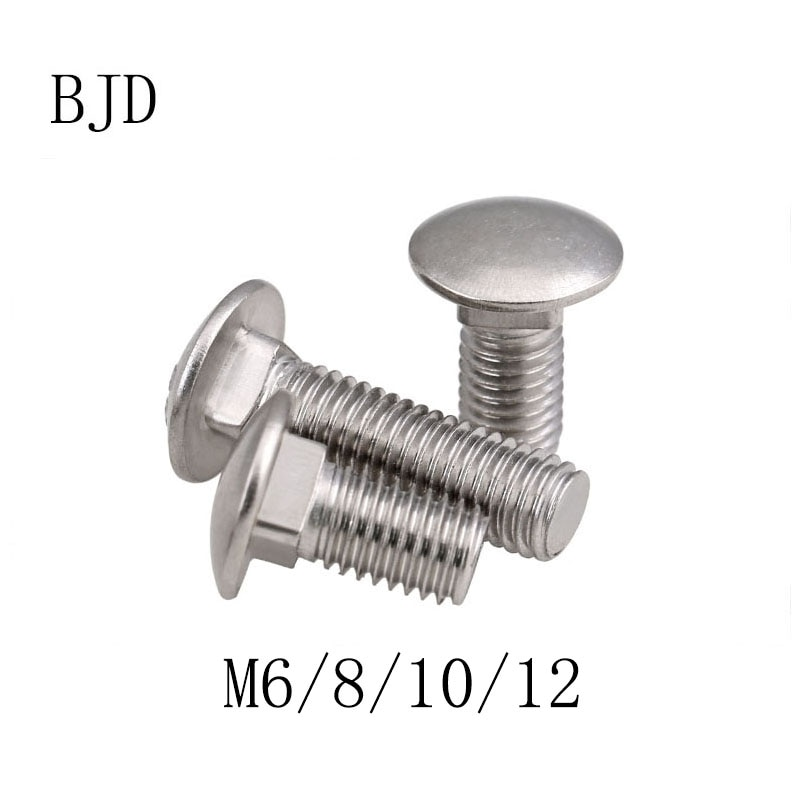 GB12 DIN603 M6 M8 M10 M12 stainless steel round head square neck carriage screws bridge screws shelf screws anti-theft bolts