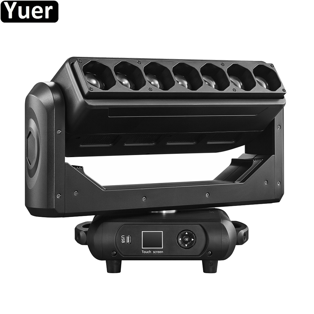 new 19 15w four in one led focus bee eye moving head light dmx512 wedding bar show ktv stage lighting ac100v 240v 50 60hz 450w New 7X40W 4IN1 LED Pixel Bar Beam Zoom Wash Effect Moving Head Light DMX512 DJ Disco Light Wedding Party Bar Stage Lighting