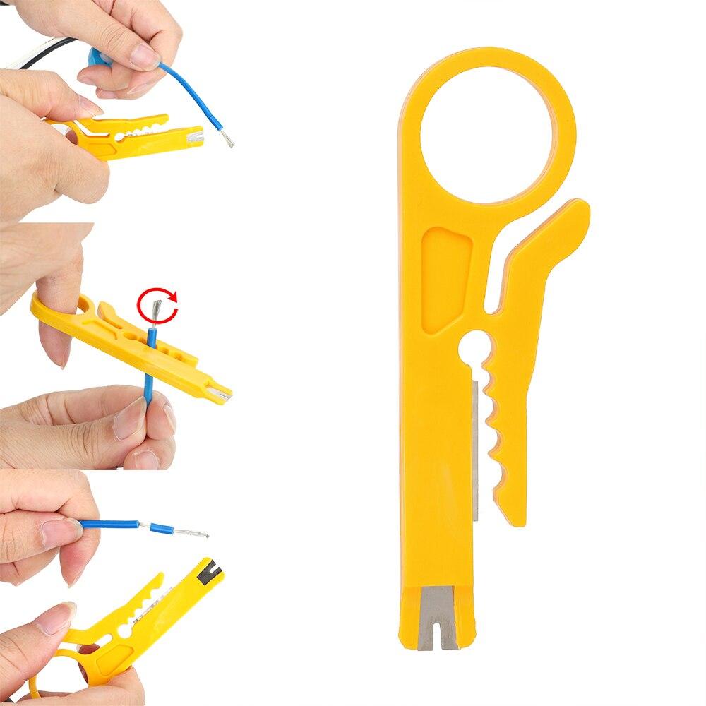 Mini alicate de bolsillo portátil NICEYARD, alicate pelado de alambre, cuchillo pelado de cables, cortador de alambre, herramienta de prensado
