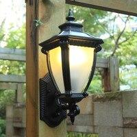 HAWBOIRRY מודרני LED עמיד למים גן חיצוני התקנה קיר מנורת תאורה אירופאי פרק וילה רטרו מסדרון אור