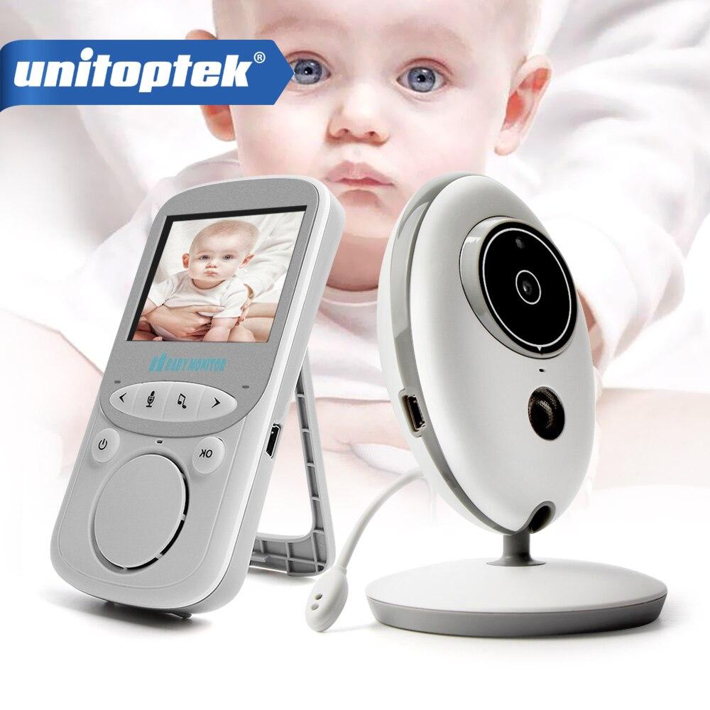 2,4 pulgadas 2,4 GHz Video inalámbrico Monitor de bebé Color Cámara intercomunicador Audio visión nocturna monitoreo de temperatura niñera