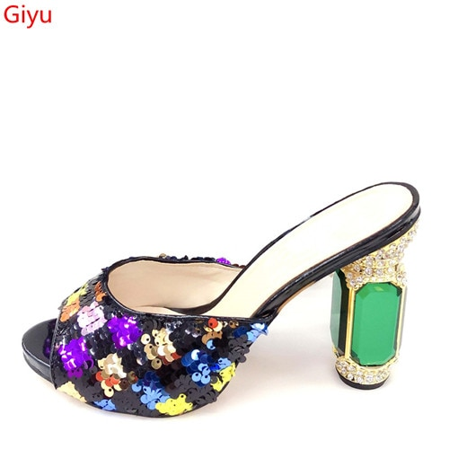doershow good quality African sandals for party,latest pattern ladies shoes for free shipping comfor