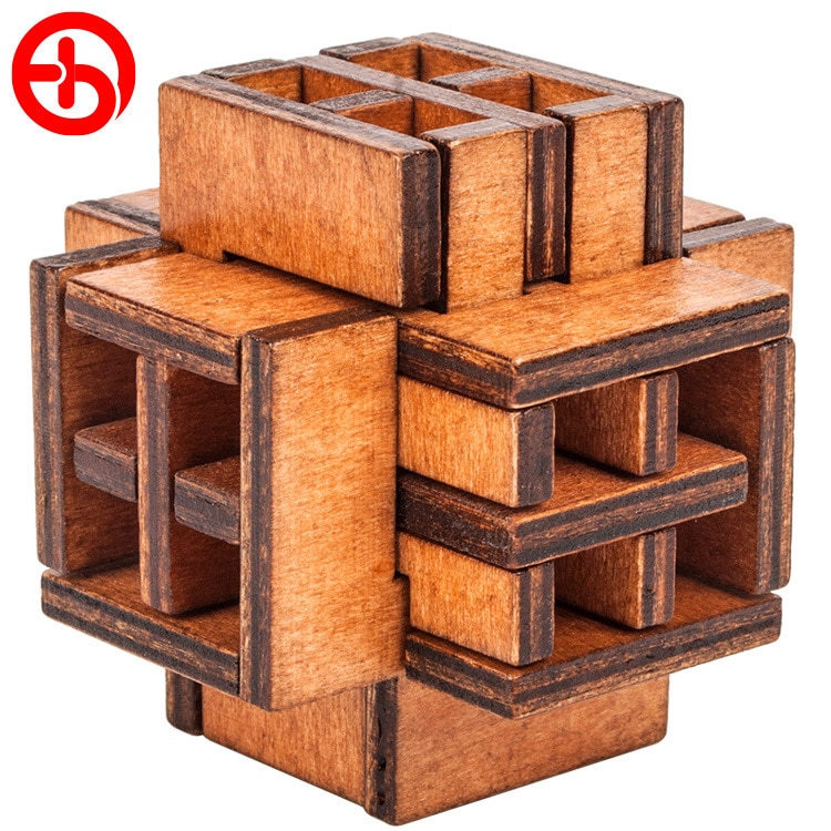Ventana 3D Rusia Ming Luban juguete educativo rompecabezas de madera educativos para adultos niños rompecabezas Regalo de Cumpleaños caliente