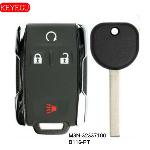 Keyecu Replacement Remote Key Set for 2014-2019 Chevrolet GMC M3N-32337100 B116-PT , G*M-13577770, W-N2140