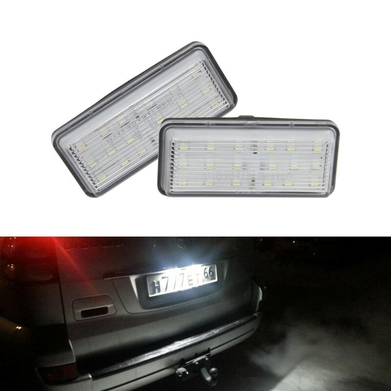 CAN-bus White Led Rear Number License Plate Lights Auto Lamp For Toyota Land Cruiser 120 Prado Land Cruiser 200 Lexus GX470