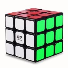 Qiyi-Cube magique jouets classiques, bloc dautocollants 3x3x3, Cube de vitesse dapprentissage éducatif coloré