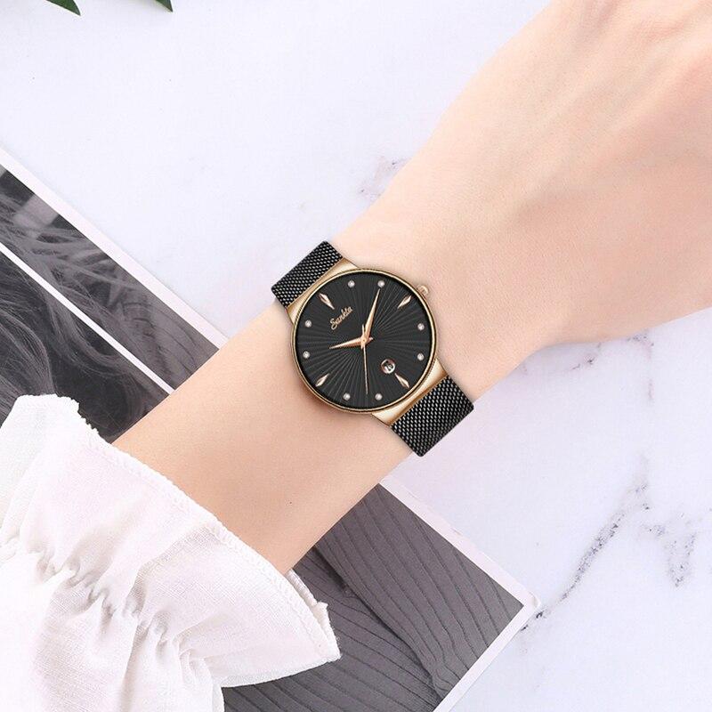 2021 Hot Women's Watch SUNKTA Brand Luxury Fashion Ladies Watch Waterproof Lady Bracelet Reloj Mujer Clock Relogio Feminino+Box enlarge