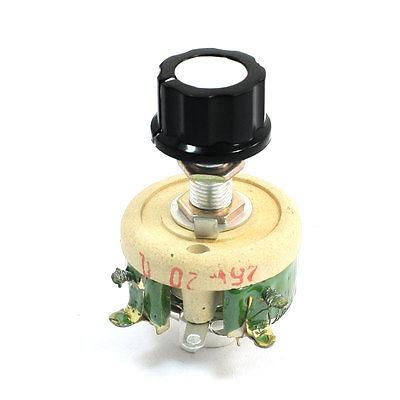 Potenciómetro de cerámica de 25 W 20 Ohm resistencia de olla cónica Variable reostato