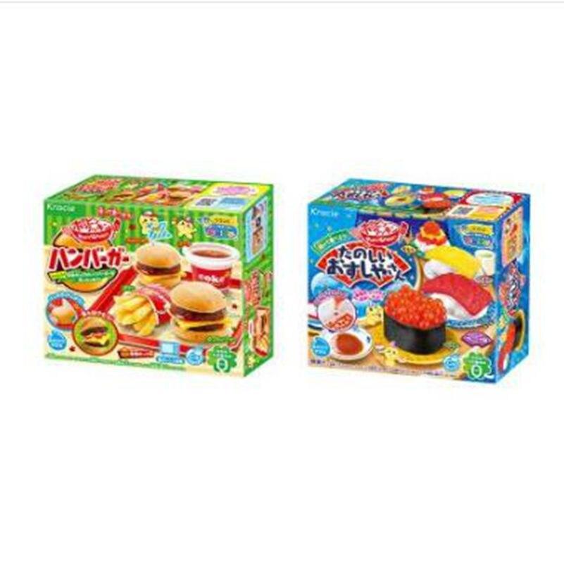 2 pcs Japanse Popin Koken Gelukkig keuken donut hamburger ijs DIY handgemaakte Speelgoed Keuken Pretend Speelgoed