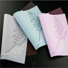 Fyjafon 4/6pieces Set Kitchen Table Mats Europe PVC Heat Protection Hotel Home Decorative Placemats