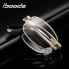 Iboode складные бифокальные очки для чтения, унисекс, портативные очки в металлической оправе для дальнозоркости, складные очки 1,5 2,0 2,5 3,0 3,5