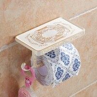 Лакшери держатель для туалетной бумаги с подставкой для смартфона