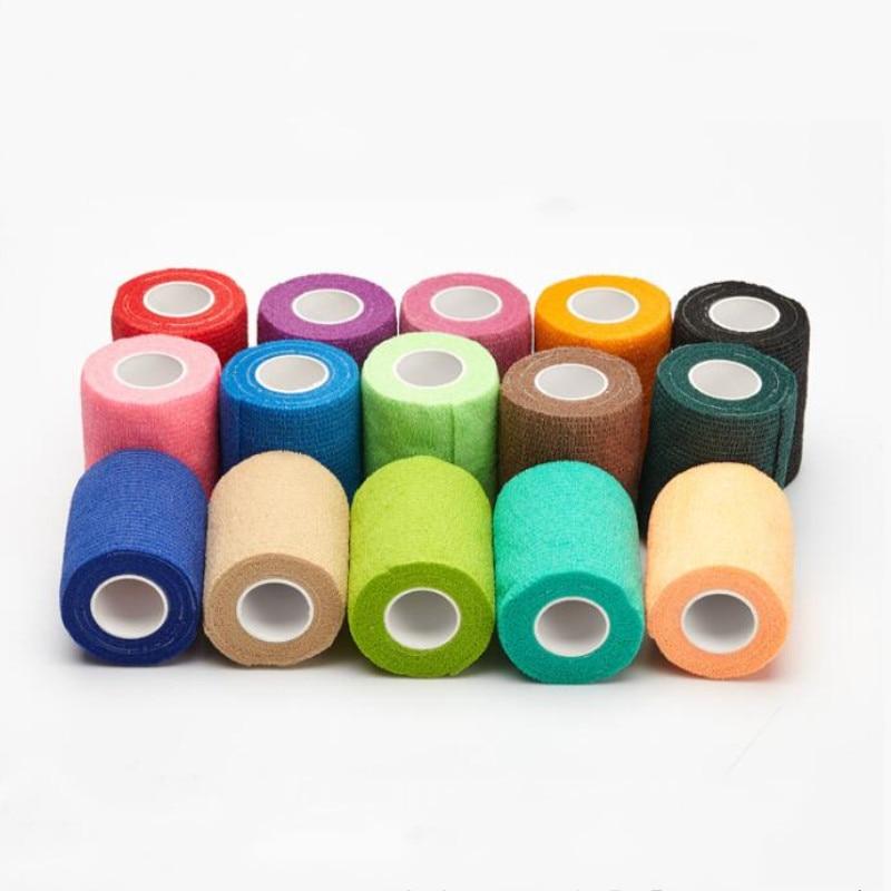4.5m Sport Tape Waterproof Self Adhesive Elastic Bandage Muscle Tape Finger Joints Wrap Bandage Non woven Cohesive Bandage