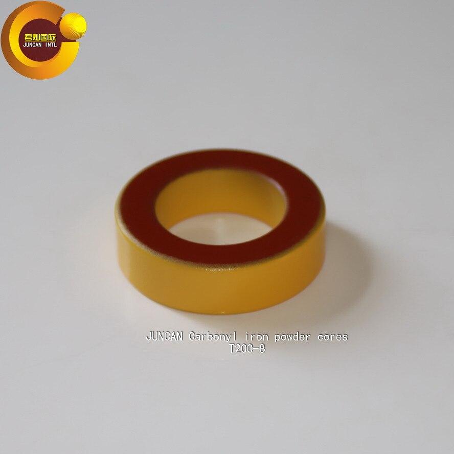 T200-8 hierro polvo núcleo, anillo magnético, núcleo magnético, núcleo magnético inductor magnético