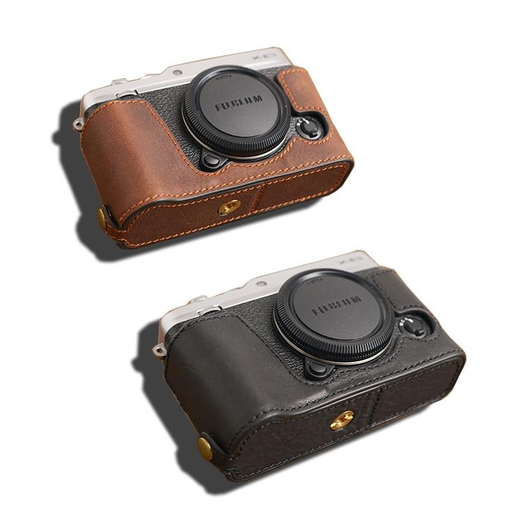Бренд AYdgcam, чехол для камеры из натуральной кожи, ручная работа, Половина корпуса, Нижняя крышка для Fuji Fujifilm XE3, X-E3, открытая батарея