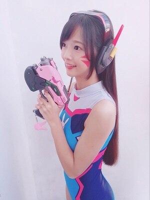 D.Va pistolet casque pour Cosplay arme Hana chanson D VA accessoire pistolet casque accessoires pour Halloween noël cadeau DVA