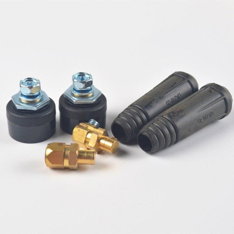 Máquina de soldadura Europea montaje rápido hembra macho Cable conector enchufe adaptador DKJ 10-25 35-50 -70 conector de Cable