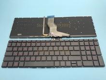 Nuevo teclado ruso para HP Pavilion 15-ab 15-ak 15-bc 17-ab 15-ab000 15-ab100 15-ab200 15z-ab100 teclado ruso retroiluminado rojo