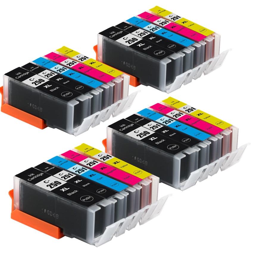 Compatible PGI-250 CLI-251 ink cartridge For canon IP7220 IP8720 MX922 MX722 MG5420 MG5422 MG5520 MG6320 MG6420 MG7120 Printer
