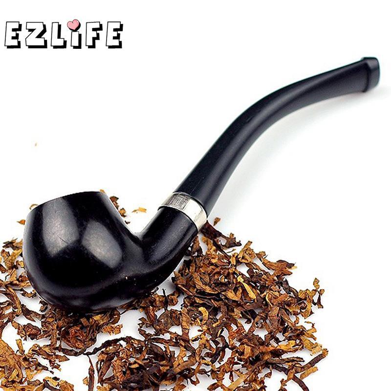 1 Uds. Pipa de fumar de 110mm, pipa de cigarrillo para fumador de tabaco negra ZH645