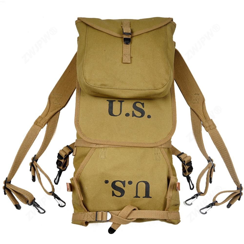 Repro WW2 Ejército de los EE. UU. M1928 mochila al aire libre bolsa de Camping de alta calidad