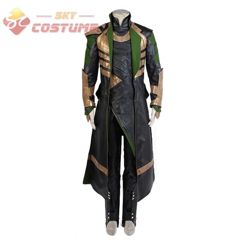The Avengers Thor Costume The Dark World Loki Cosplay Costume long Coat Pants Full Set Carnival Halloween Cosplay Costumes