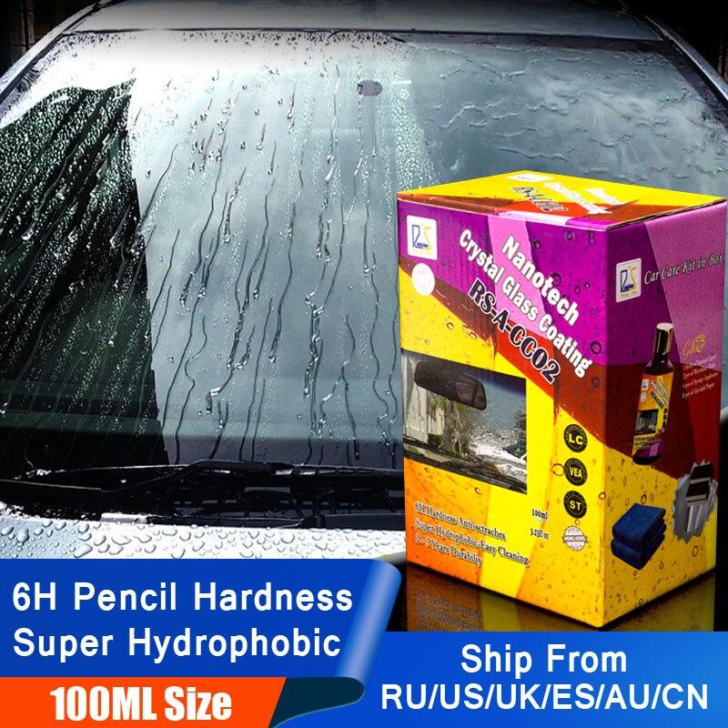 100ml Anti Rain Liquid Car Glass Water Repellent Spray Super Hydrophobic Ceramic Nano Coating Waterproof Windshield Cleaning