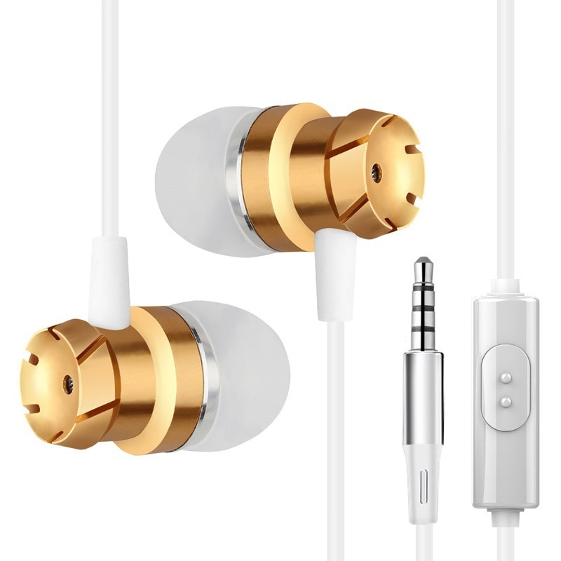 Earphone Earbuds Stereo earphones With Microphone Sport Headsets with 3.5mm wire control for mobile Phones PC mp3 enlarge