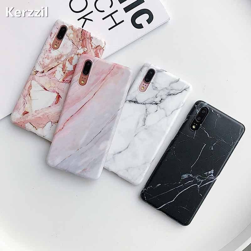 Étui pour huawei de téléphone en pierre de marbre mat Mate 20 P20 Lite P30 Pro étui en polyuréthane thermoplastique souple pour Nova 3 3i 2s P Smart Plus Coque arrière
