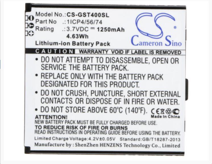 Cameron Sino 1250 mAh bateria para GSMART T4 T4 T4 Lite Lite Edition 1ICP4/56/74 Móvel, bateria do SmartPhone