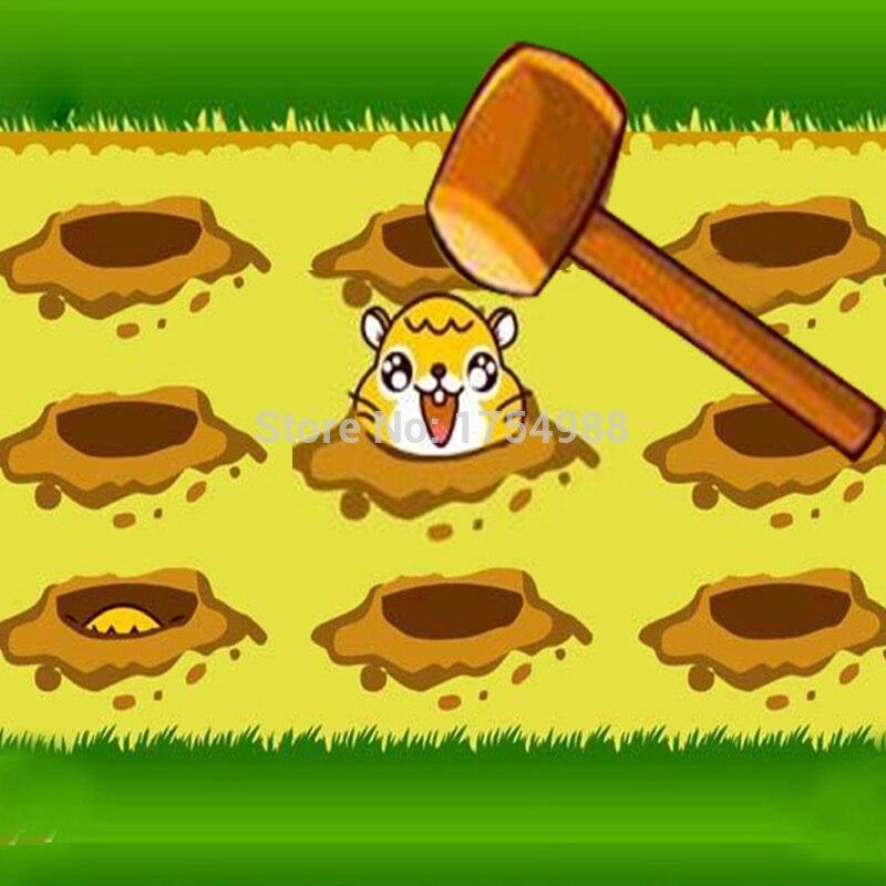 Escapa de la vida real prop takagism juego el ratón hámster juego whack-un topo juego candado abierto escapar de cuarto oscuro