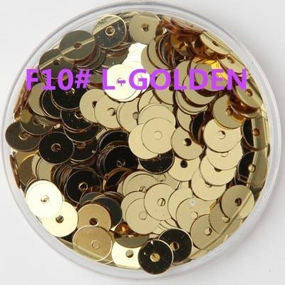 50 g/lote 8mm dorado claro lentejuelas planas redondas para manualidades Bolsa niños, accesorios de ropa DIY de boda confeti de agujero medio