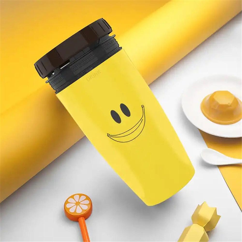 Taza giratoria sin cubierta Neolid práctico vaso de paja niños portátil creativo botella de agua retorcida taza de café 6 horas de preservación del calor