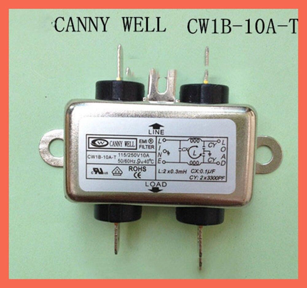 Emiフィルタ電子部品電源フィルタキャニーwell emiパワーフィルター単相 110-250v 10A cw1b-10a-t