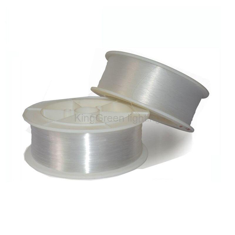 1500 m/rolo 1mm diâmetro pmma fim brilho plástico opticas fibra led cabo de fibra óptica para led motor luz express frete grátis