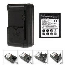1900 mAH batterie de remplacement de téléphone portable pour Samsung Galaxy Reverb Galaxy Xcover 2 S7710 M950 Batteria + USB chargeur de voyage mural