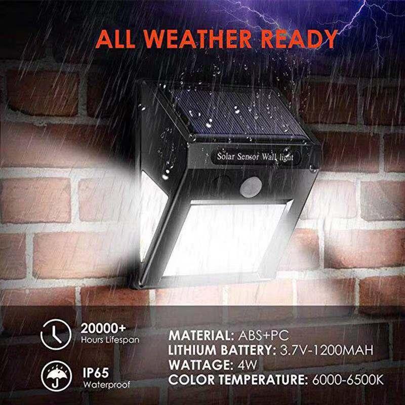 60Led датчик движения Авто Солнечная лампа водонепроницаемый настенный портативный походный светильник-вспышка для сада, улицы, уличный свет...