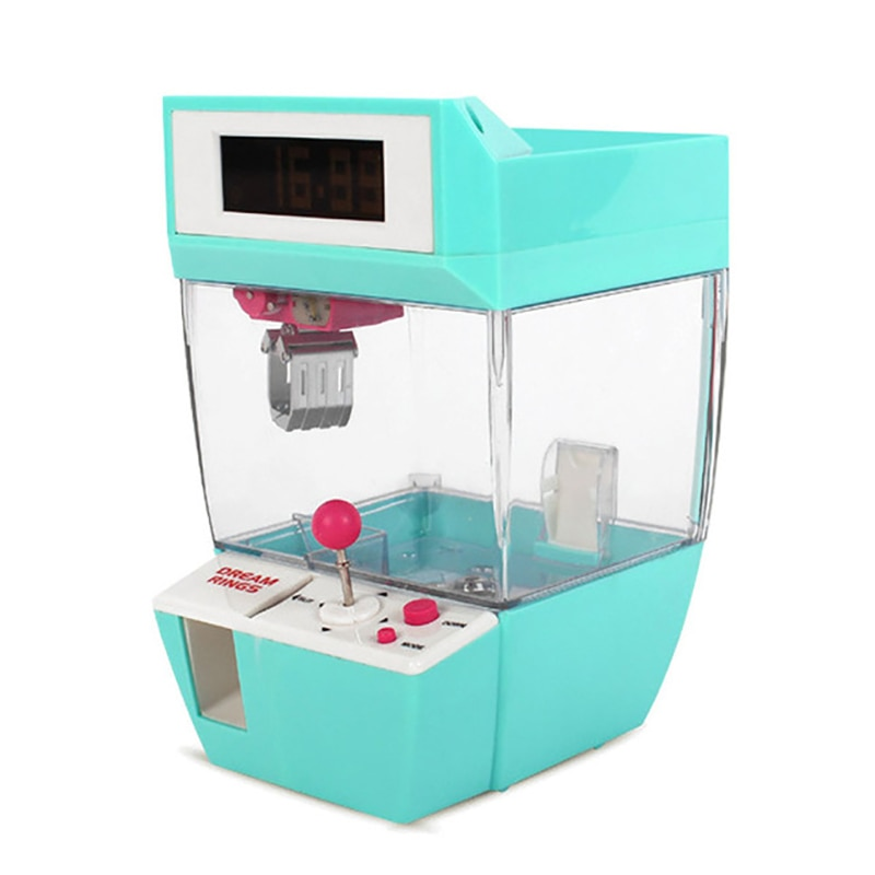 الماسك ساعة تنبيه عملة تعمل لعبة آلة رافعة حلوى دمية المنتزع مخلب ممر ألعاب التلقائي آلة صغيرة بيع الاطفال