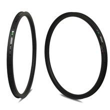 26er XC/AM/Enduro/DH MTB Rim T700 Carbon Fiber Made Hookless Rims Tubeless Ready For Mountain Bike Wheels Bicycle 24/28/32 Holes