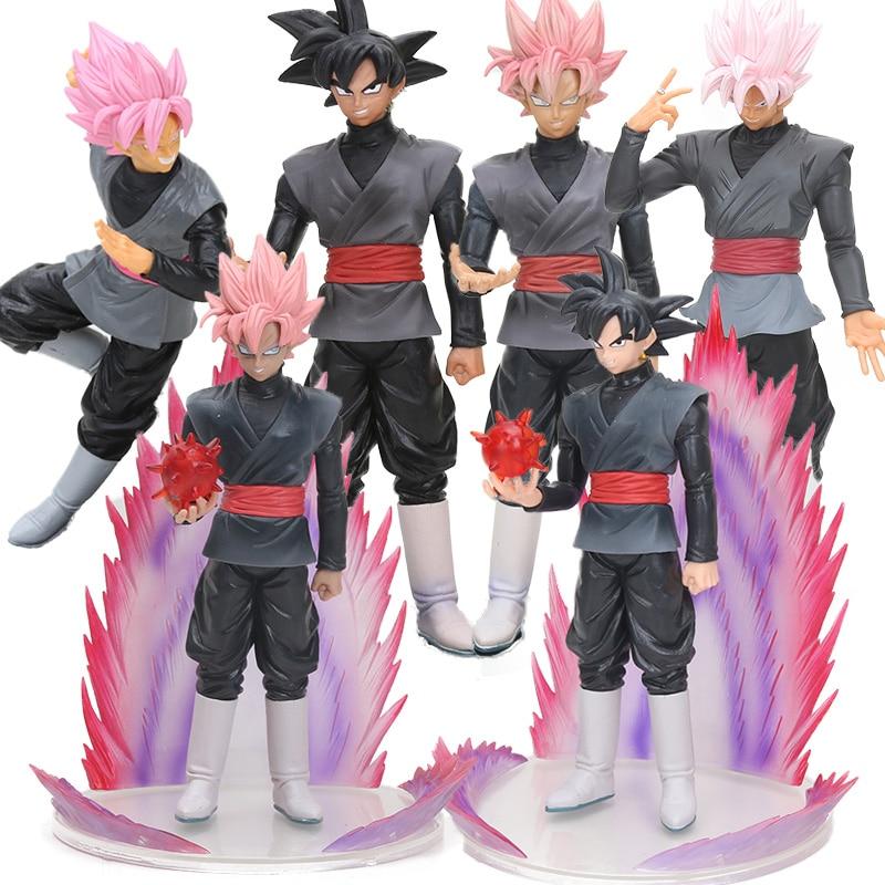 Черный Сон Гоку Dragon Ball Z Toys Trunks Супер Saiyan Goku Roze Rose ПВХ Фигурки DXF dragoall Коллекционная модель куклы