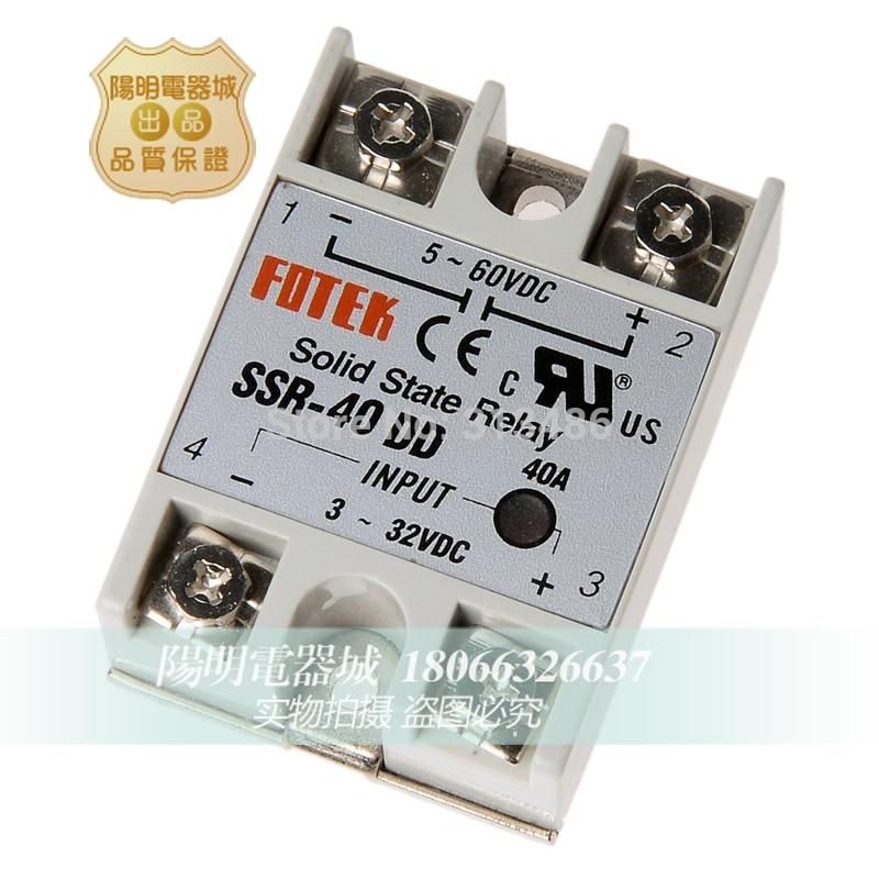 10 pcs SSR-40DD קלט 3-32VDC פלט 5-60VDC FOTEK מצב מוצק ממסר ssr40dd