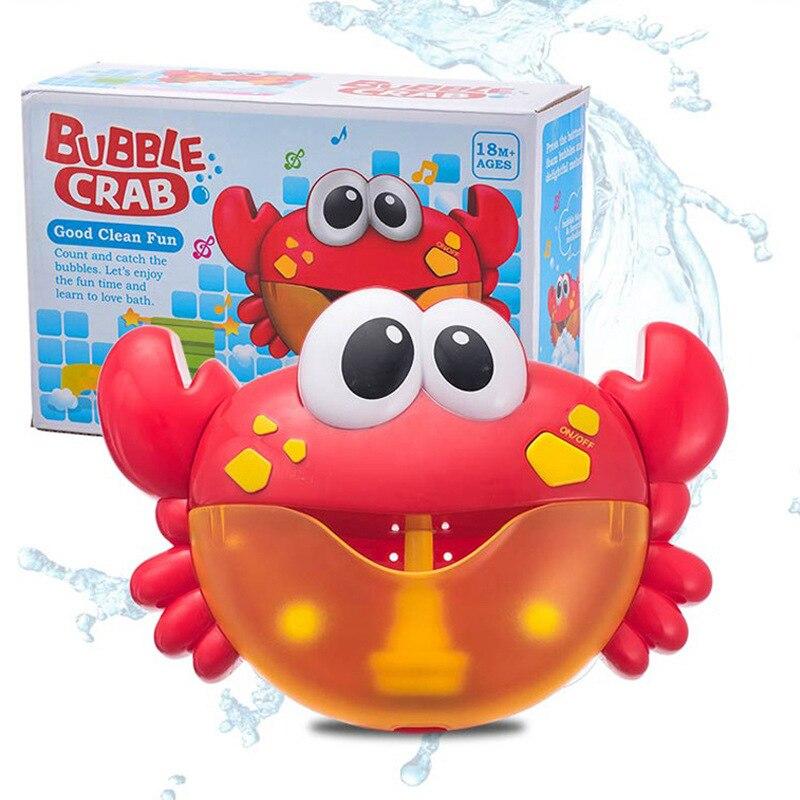 Burbuja cangrejos música bebé juguetes de baño niños Piscina bañera jabón Máquina automática burbuja divertidos cangrejos Rana baño burbuja de música