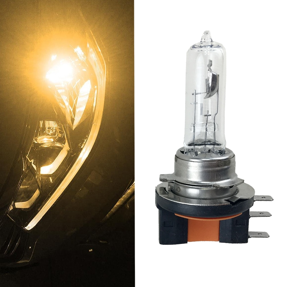 Автомобильные фары Canbus H15 64176, галогенные лампы 4300 K, желтое прозрачное стекло, замена лампы для стайлинга автомобиля, источник света, 1x12 V 15/55W