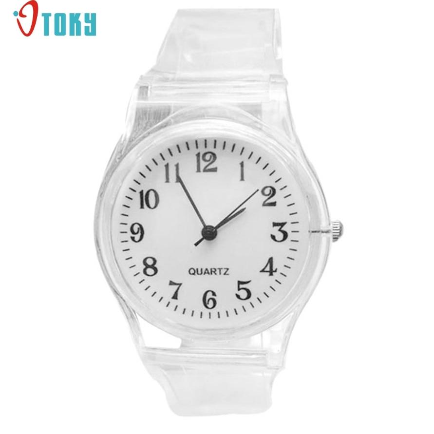 Relogio OTOKY Newly Design Women Girls Simple Silicone Gel Sports Quartz Wrist Watch White 170104 Drop Shipping