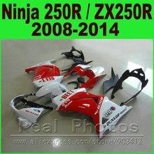 Rood Wit Biet Voor Kawasaki Ninja 250R Fairings Kit 2008-2014 Jaar ZX250R EX250R Kuip Kits K0I8