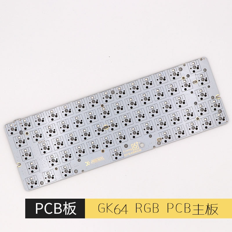 GK64 pcb RGB 60% 64KEYS HOT SWAP PCB diy mechanical keyboard hotswap socket GH60
