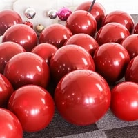 new glossy red latex balloons 12 thick chrome inflatable air balloons globos metalicos party decoration
