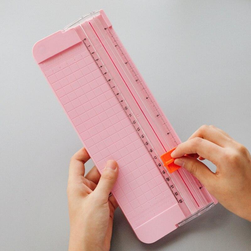 Oficina de A4 A5 cortador de papel portátil rotatorio cortador de papel de Scrapbooking estera de corte para la máquina de foto DIY