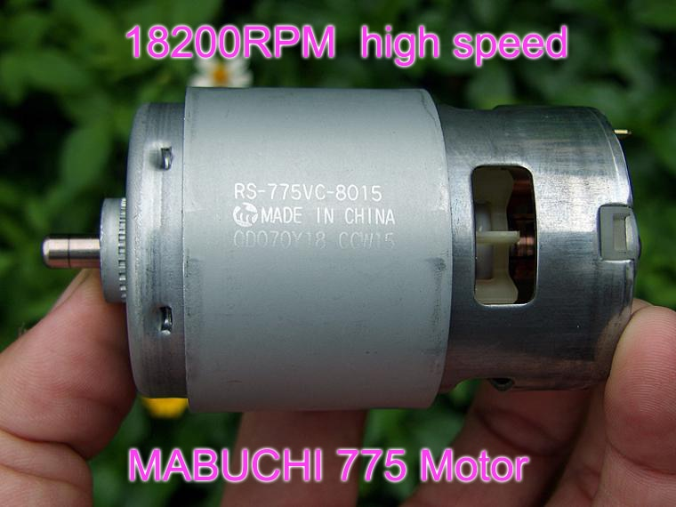 296W Mabuchi RS-775WC-9013 775VC-8015 DC 12V 18V 2.8A 21000 вращения RPM 775 высокоскоростной электродрель